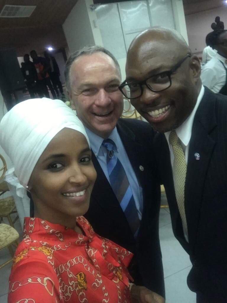 With U.S. Rep. Ilhan Omar & Peace Corps Director Gordon Brown, Accra, Ghana, 201